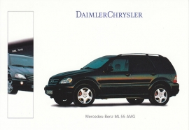 Mercedes-Benz ML 55 AMG, A6-size postcard, IAA 1999, German