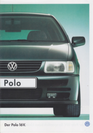 Polo 16V brochure, 8 pages,  A4-size, German language, 10/1996