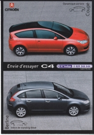 C4 Berline & Coupe, Cart'Com freecard, A6-size, 2005, French language