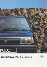 Polo 2-door brochure, A4-size, 4 pages, 08/1990, Dutch language