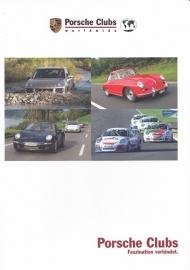 Porsche Clubs brochure, 16 pages + separate card, 11/2007, German