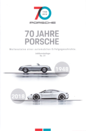 70 Jahre Porsche, 4 pages, # 01/2018, German language