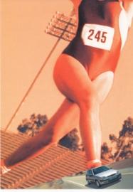 Saxo Asics special edition, Boomerang freecard, A6-size, P03-01, 2001, Dutch