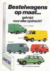 Commercials brochure, 12 pages, about 1990, Dutch language (Belgium)