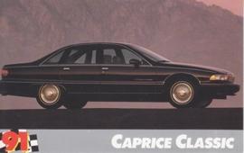 Caprice Classic Sedan,  US postcard, standard size, 1991
