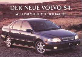 S4 Sedan introduction card, German issue, 16 x 11 cm, IAA 1995