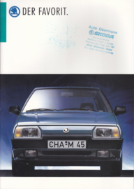 Favorit brochure, 20 pages, German language, about 1988