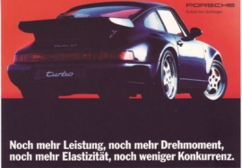 911 Turbo Coupe postcard, DIN A6 size, factory-issue, about 1993