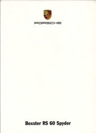 Boxster RS60 Spyder, A6-size set with 6 postcards in white cover, 2008, WVK 313 200 08