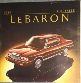 Le Baron brochure, 18 pages, USA,  08/1985, English language