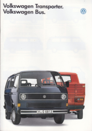 Bus & Transporter brochure, 36 pages,  A4-size, Dutch language, 08/1986