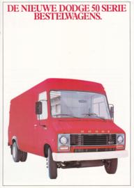 50 Serie Vans brochure, 4 pages, 05/1980, Dutch language