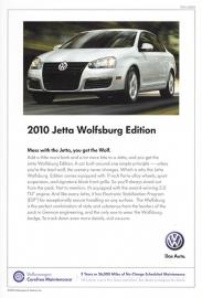 Jetta Wolfsburg Edition USA,  A5+ size sheet, USA, 2010