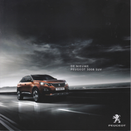 3008 SUV brochure, 56 pages, Dutch language, 09/2016