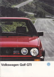 Golf GTI & GTI 16V brochure, 20 pages,  A4-size, Dutch language, 01/1987