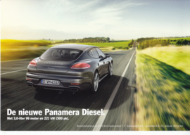 Panamera 3 Liter Diesel leaflet, 2 pages, 2014, Dutch
