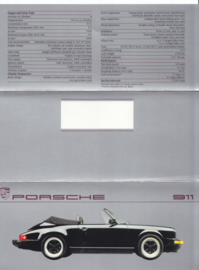 911 Carrera Convertible brochure, 6 pages, 1987, English (USA)