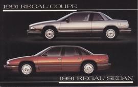 Regal Coupe & Sedan, US postcard, standard size, 1991