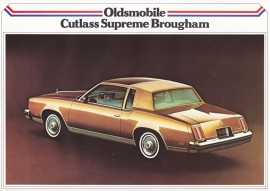 Cutlass Supreme Brougham 1979, 2 pages, export, Dutch language