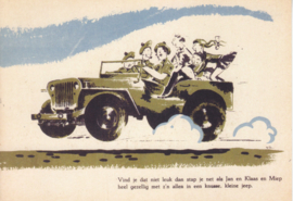 Jeep in cartoon, DIN A6-size, unused, Dutch issue, 2008
