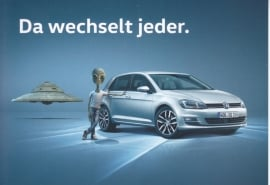 Golf young used cars postcard, DIN A6-size, German langage, 2016