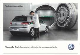 Golf 2.0 TDi 110 postcard,  A6-size, French language