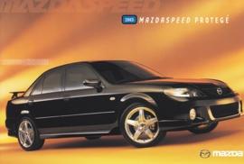 Mazdaspeed Protegé, 2003, US postcard, A5-size