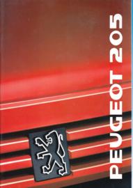 205 Hatchback brochure, 36 pages, A4-size, 1989, Dutch language