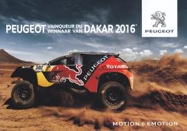 Dakar winning car, A6-postcard, Belgium, 2016