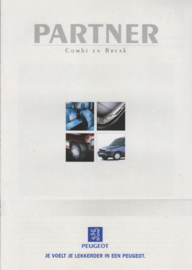 Partner Combi & Break brochure, 8 pages, A4-size, 1/1997, Dutch language