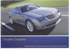 Chrysler Crossfire, A6-size postcard, NAIAS 2003