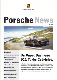News 3/2007 with 911 Turbo Cabriolet, 20 pages, 06/07, German language