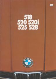 518/520/520i/525/528i brochure, 40 pages, A4-size, 2/1976, Dutch language