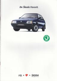 Favorit brochure + specs., 18 + 4 pages, Dutch language, 1989