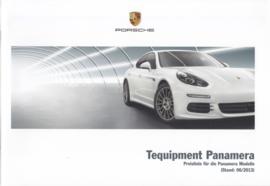 Panamera Tequipment pricelist, 76 pages, 06/2013, German