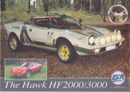 Hawk HF 2000/3000 replica leaflet, 2 pages, about 1999, English language