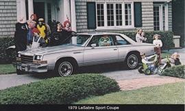 Le Sabre Sport Coupe, US postcard, standard size, 1979