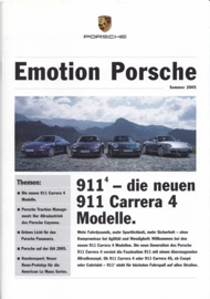 Emotion Porsche Summer 2005 with 911 Carrera 4, 16 pages, 08/2005, German language