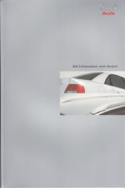 A4 Limousine & Avant double brochure, 52 + 64 pages + cover, 01/1999, German language