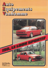 190 AEV tuning leaflet, 1 page, A4-size, about 1990, Belgium