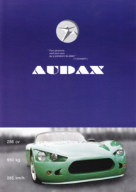 Audax V8 Cabriolet brochure, 6 pages (A4), about 1997, French language