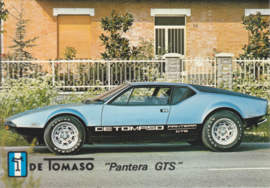 De Tomaso Pantera GTS, advertising postcard, factory-issued, about 1975