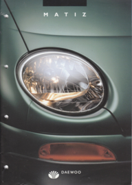 Matiz brochure,  20 pages,  08/1998, Dutch language