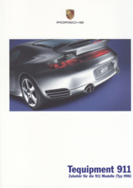 911 Tequipment (996) brochure, 36 pages, 05/2005, German