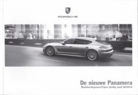 Panamera pricelist brochure, 98 pages, 08/2013, Dutch
