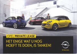 Program private lease brochure, 8 pages, DIN A5-size, 2014, Dutch language