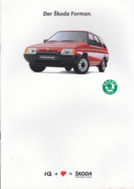 Forman Stationwagon brochure + specs., 18 + 4 pages, German language, 1989