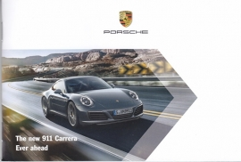 911 Carrera new model (991 II) postcard size folder, 24 pages, 2015, English