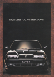 800 Sedan brochure, 4 pages, A4-size, about 1986, Dutch language