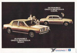 Omega Brougham Sedan & Coupe 1980, 2 pages, export, Dutch language